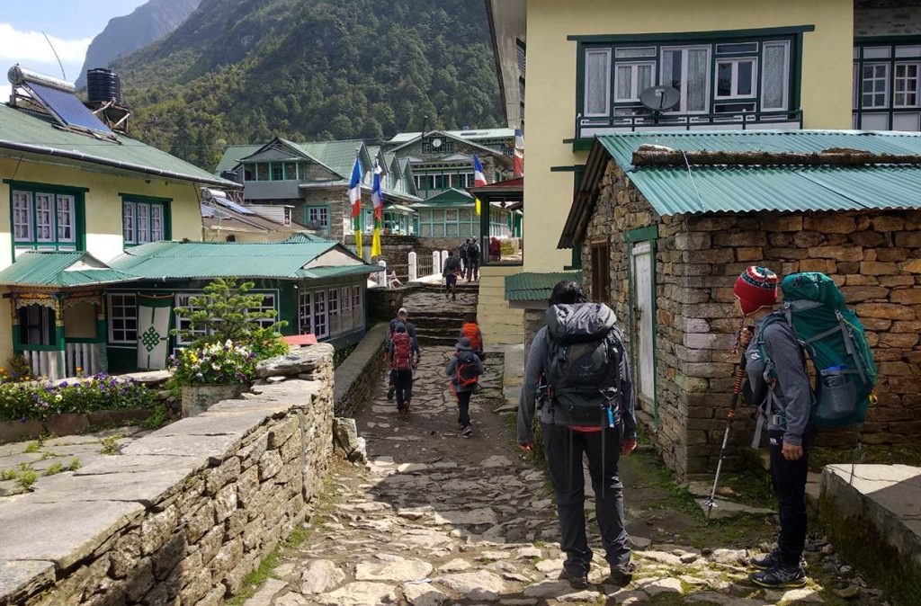 Trek to Phakding