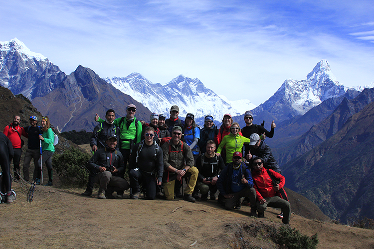 First View of Mt. Everest along with Amadablam and Lhotse