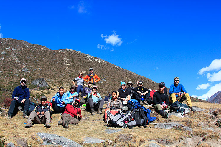 Team had rest during trek