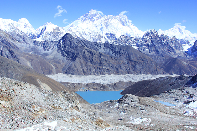 View of Mt. Everest and Goykyo Lake
