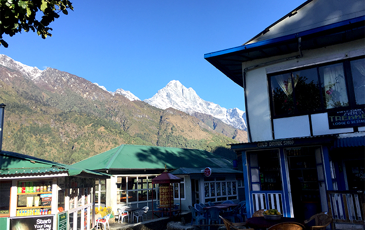 Morning view before reaching Lukla